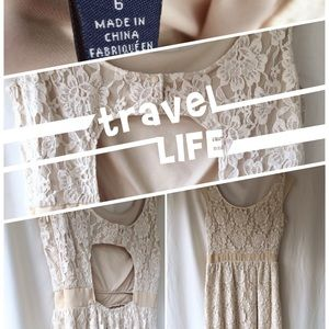 Lace White Day Dress American Eagle Outfitters 6
